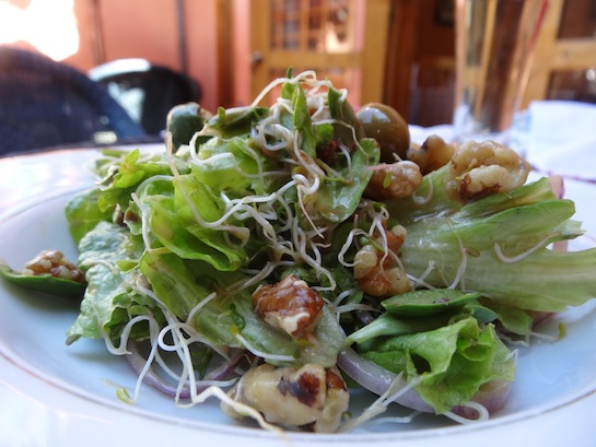 Refreshing walnut and olive salad