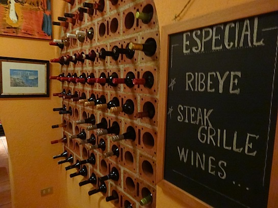 Red brick wine rack