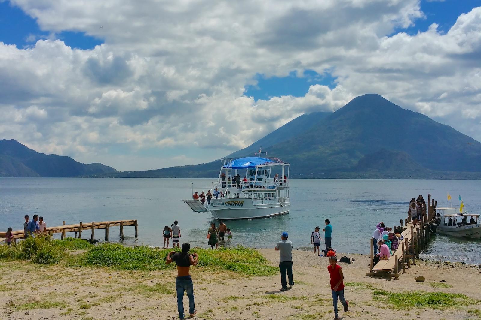 party boat on lake atitlan panajachel