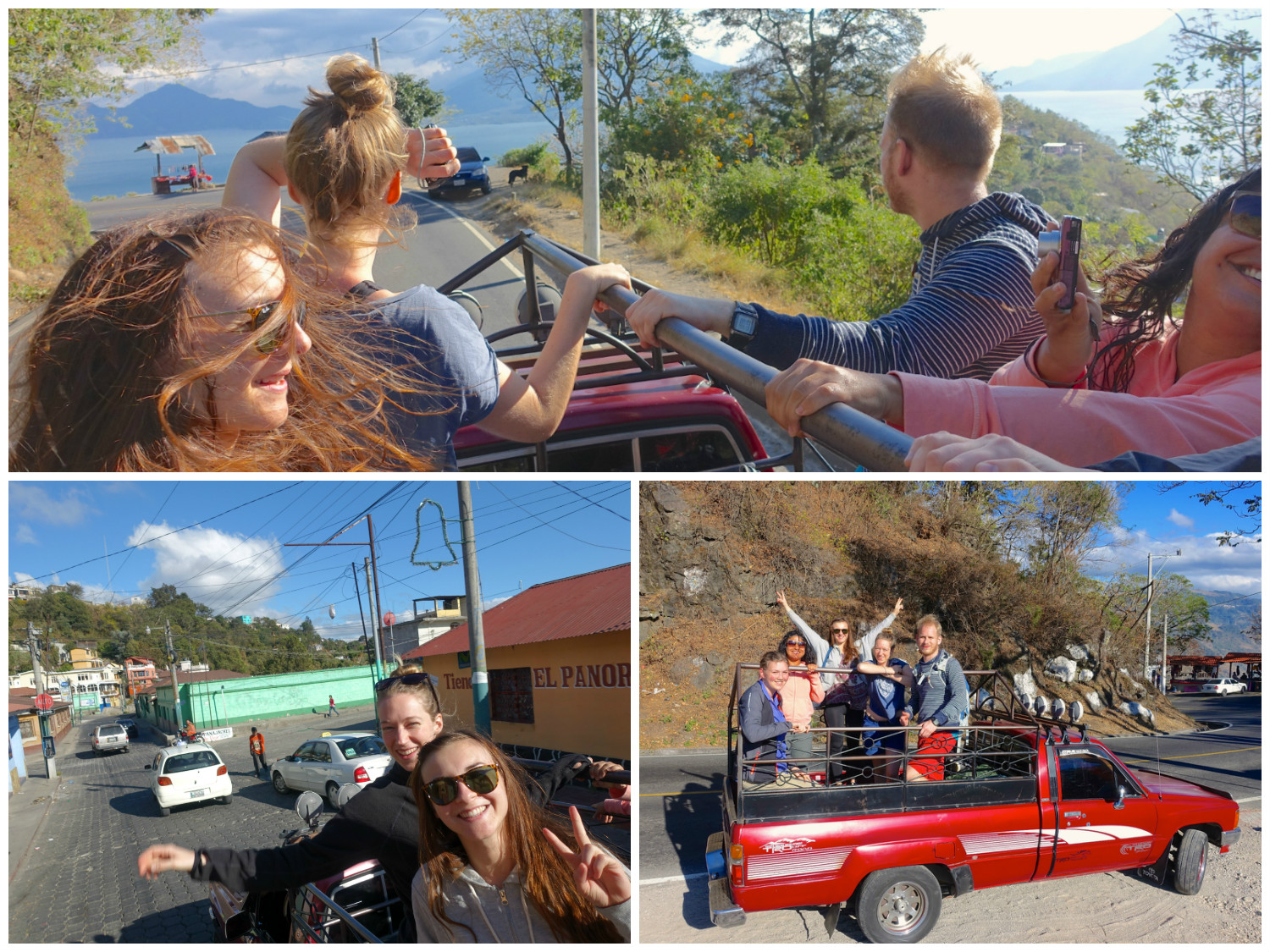 getting a pickup truck from solola to panajachel