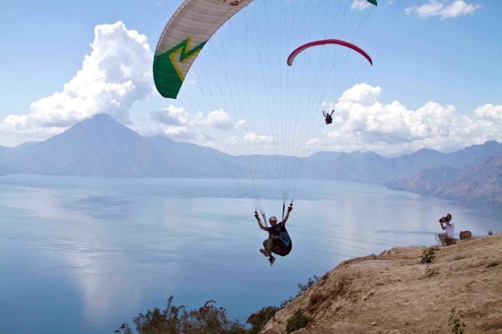 paragliding on lake atitlan