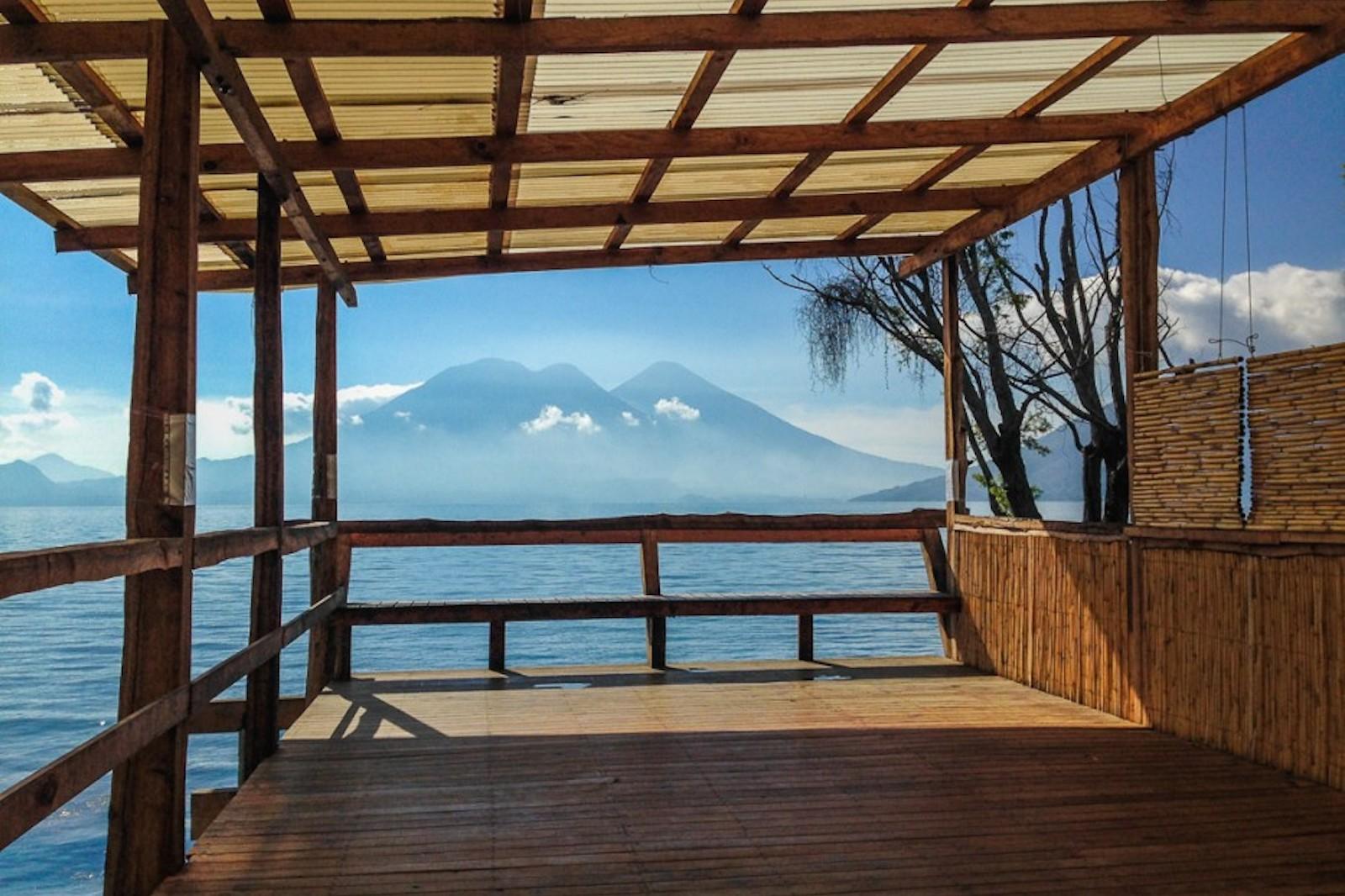 yoga deck at hostal del lago on lake atitlan