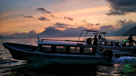 lake-atitlan-lancha-boat-sunset-guatemala